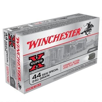 WINCHESTER Winchester Super X .44 Special Ammunition 50 Rounds, LFN, 240 Grain