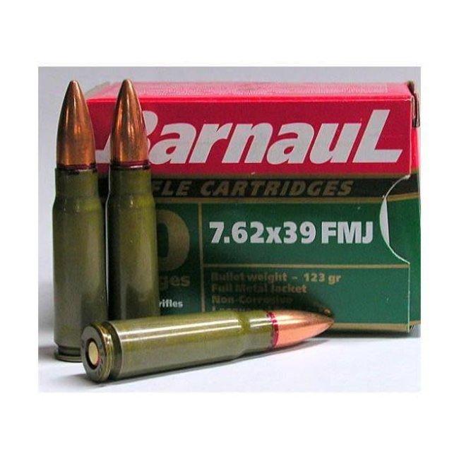 BARNAUL c.7.62X39 123GR FMJ GREEN non-corrosive 20/box