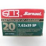 Barnaul Ammo 7.62x39mm Barnaul SP 125 Grain 20 Round Box Steel Case non-corrosive