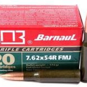 Barnaul 7.62x54mm Rimmed Russian 174 Grain Full Metal Jacket (Bi-Metal) Box of 20