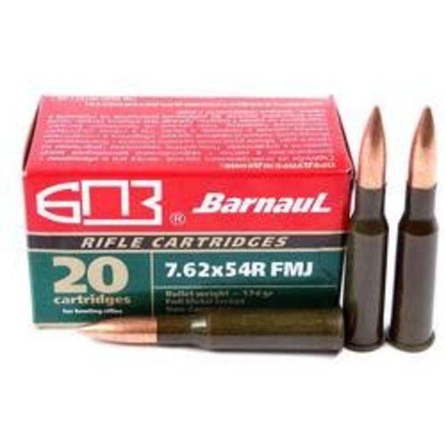 7.62x54mm Rimmed Russian 174 Grain Full Metal Jacket (Bi-Metal) Box of 20