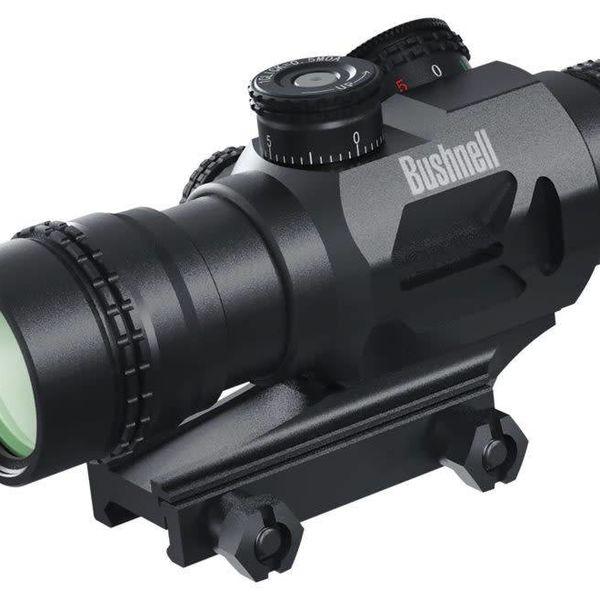 Bushnell Bushnell AR Optics Accelerate 4x Prism Sight Red Dot BTR-3 Illuminated Reticule 0.5 MOA Per Click Matte Black