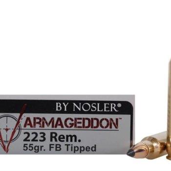 Nosler Nosler Varmageddon .223 REM 55 GR Tipped Flat Base 3100fps 20 Rounds