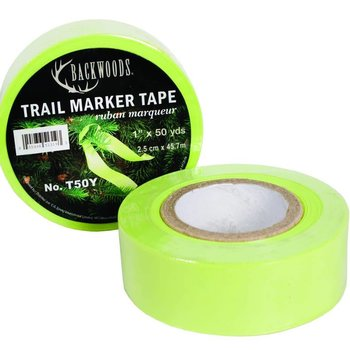 Backwoods Backwoods Trail Marker Tape, 1'' x 50YD - Yellow