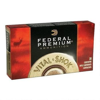 Federal Federal Ammunition Vital-Shok 30-06 Springfield Trophy Bonded Bear Claw Bullet, 200 Grains, 2540 fps, 20 Round Box, P3006T5