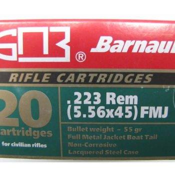 Barnaul Barnaul .223 Rem 55 Gr Steel Case FMJ 20/box