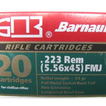 Barnaul Barnaul .223 Rem 55 Grains 20 Rounds Steel Case FMJ