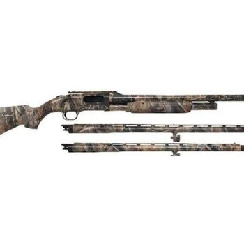 "Mossberg Mossberg 535 3-Barrel Combo, 12 Gauge Shotgun, 3.5"" Chamber, 24"" Rifled Barrel w/Cantilever, 24"" Turkey/Field Barrel with Fiber Optic Sights, 28"" Bird Barrel"