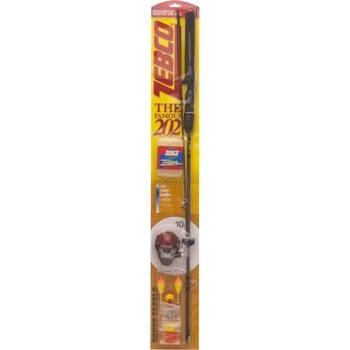 "Zebco Zebco 202 Series Combo 5'6"" 2 Pieces, Spincast, Medium Action with Pocket Tackle Box"
