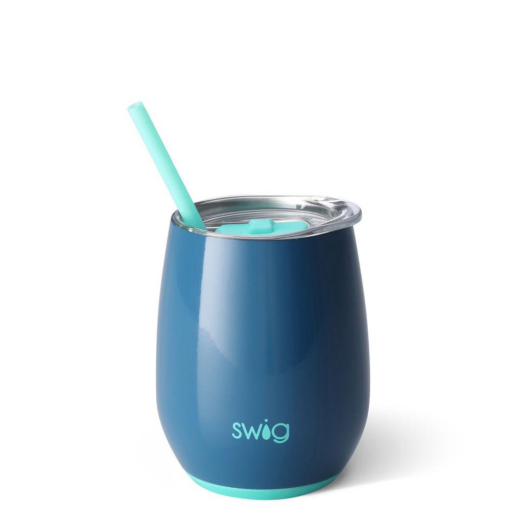 Swig 14oz Stemless Wine Cup - Denim