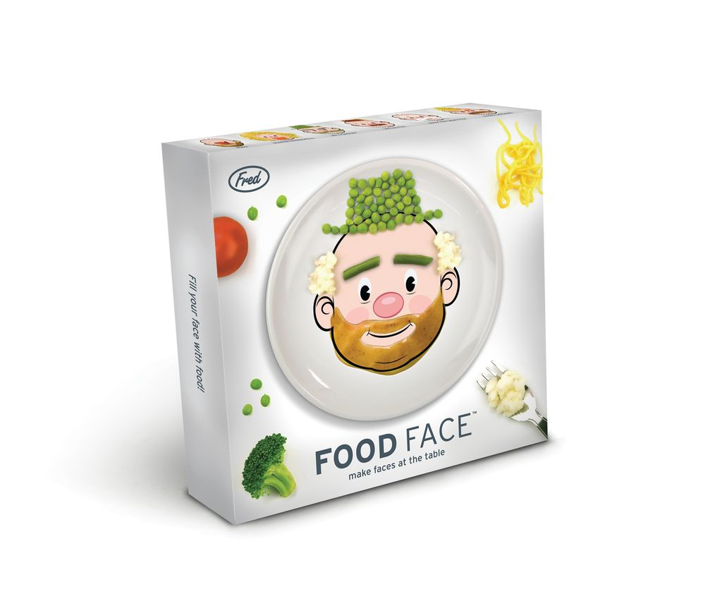 General Gift Food face dinner plate