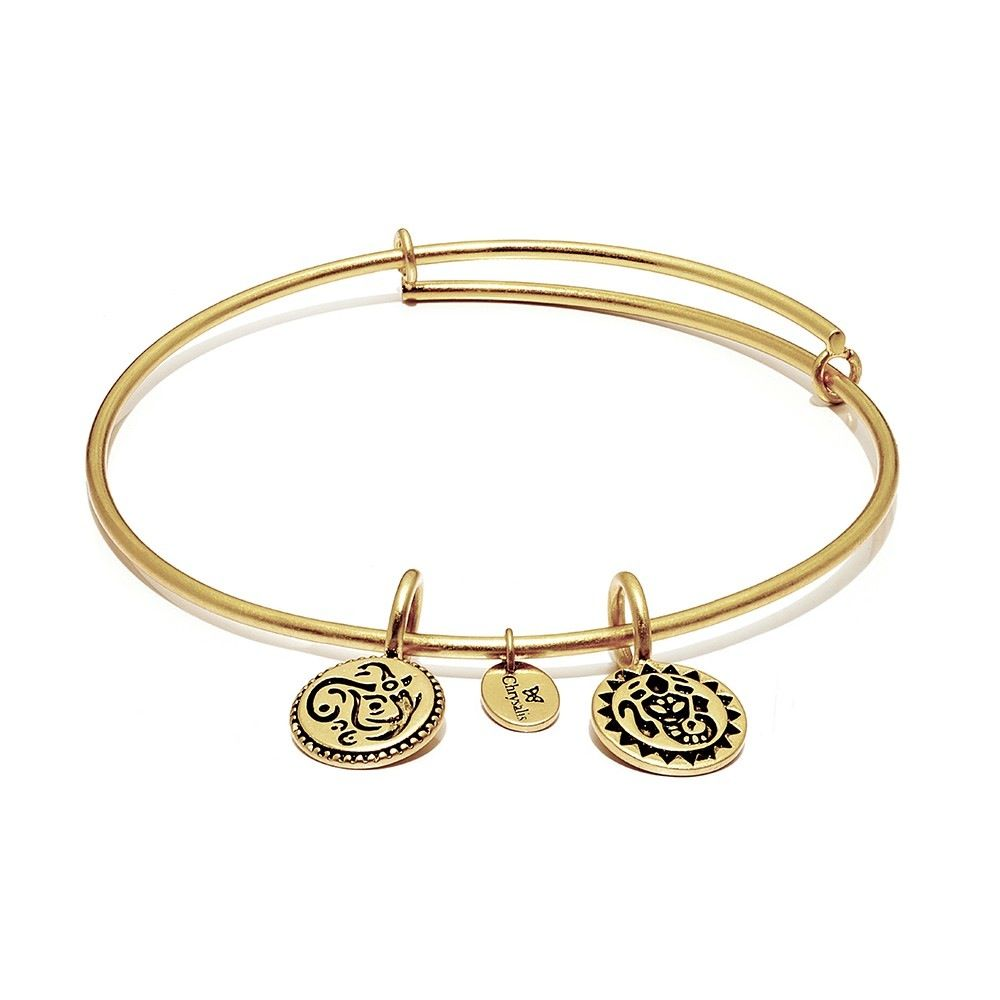 Life Collection - Lucky Ganesh Expandable Bangle - Standard Size - Gold