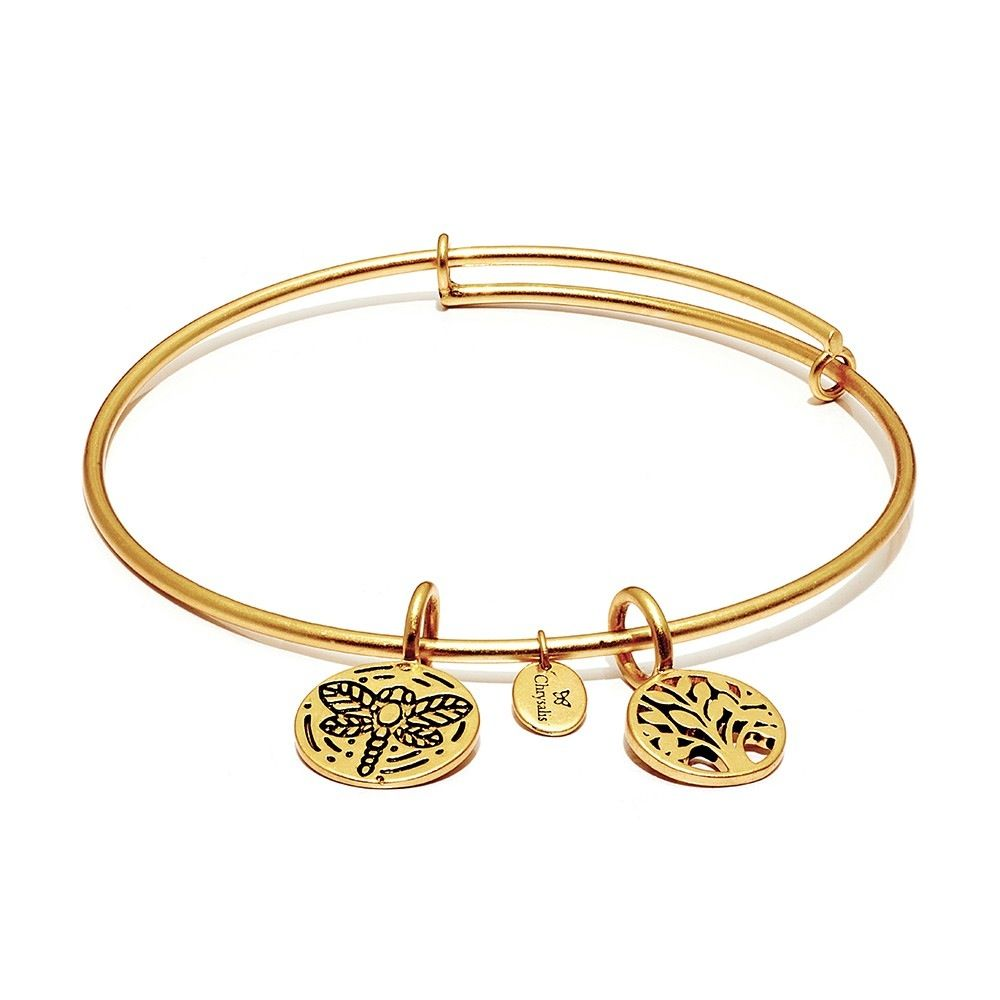 Life Collection - Tree Of Life Expandable Bangle - Small Size - Gold