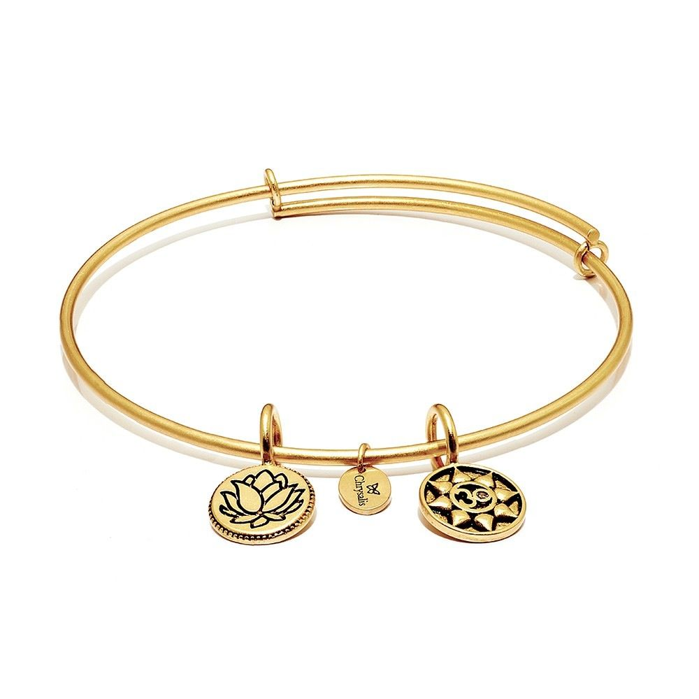 Life Collection - Mantra Expandable Bangle - Standard Size - Gold