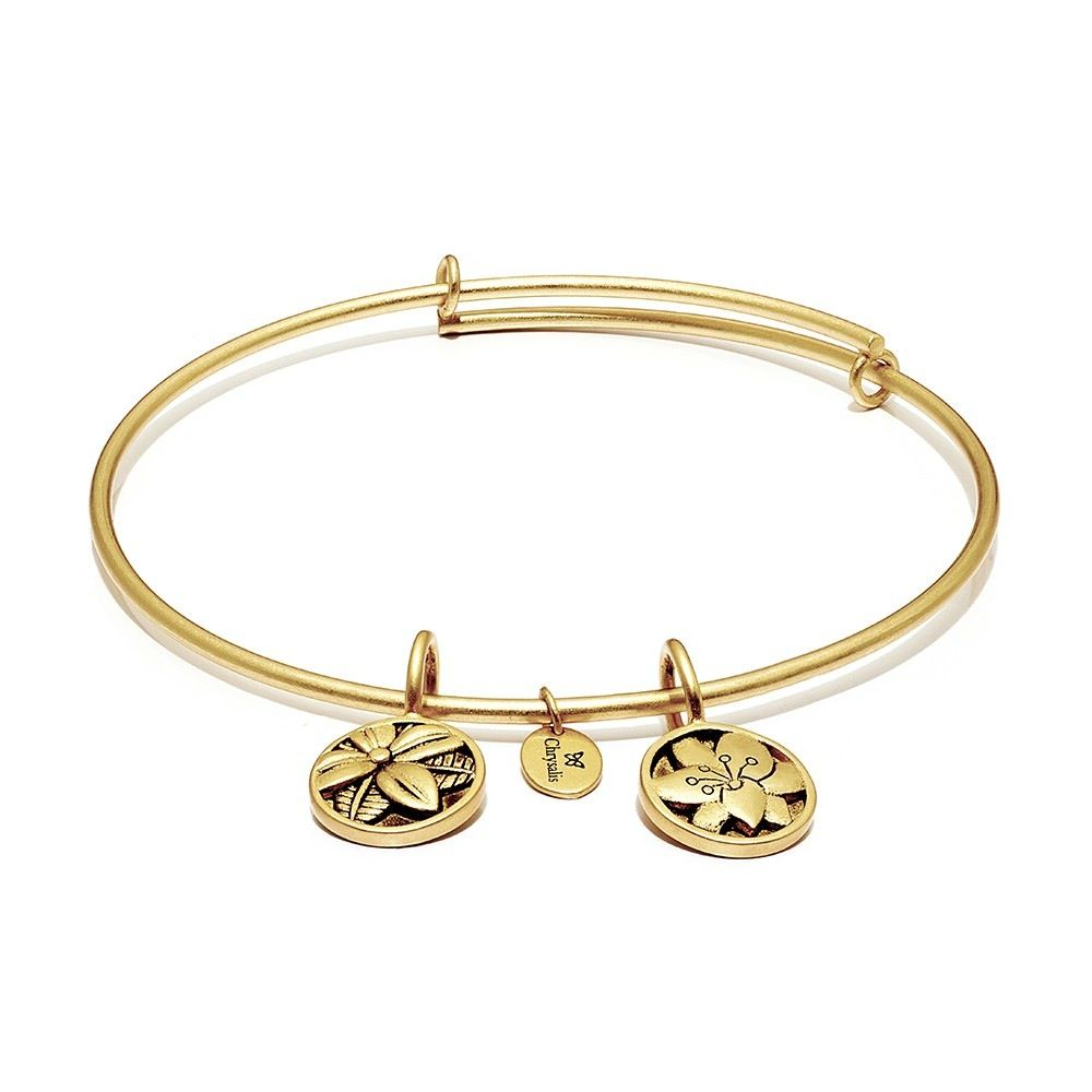 Life Collection - Blossom Expandable Bangle - Standard Size - Gold