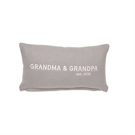 Home Decor Mud Pie Grandma & Grandpa Est 2019 Pillow