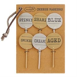 Mud Pie Metal Cheese Marker Set