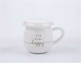 Mud Pie Sip Some Happy Tea Mug
