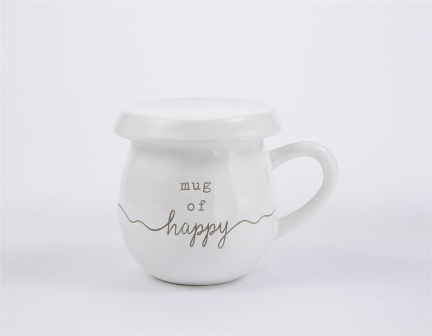 Mud Pie Happy Tea Mug