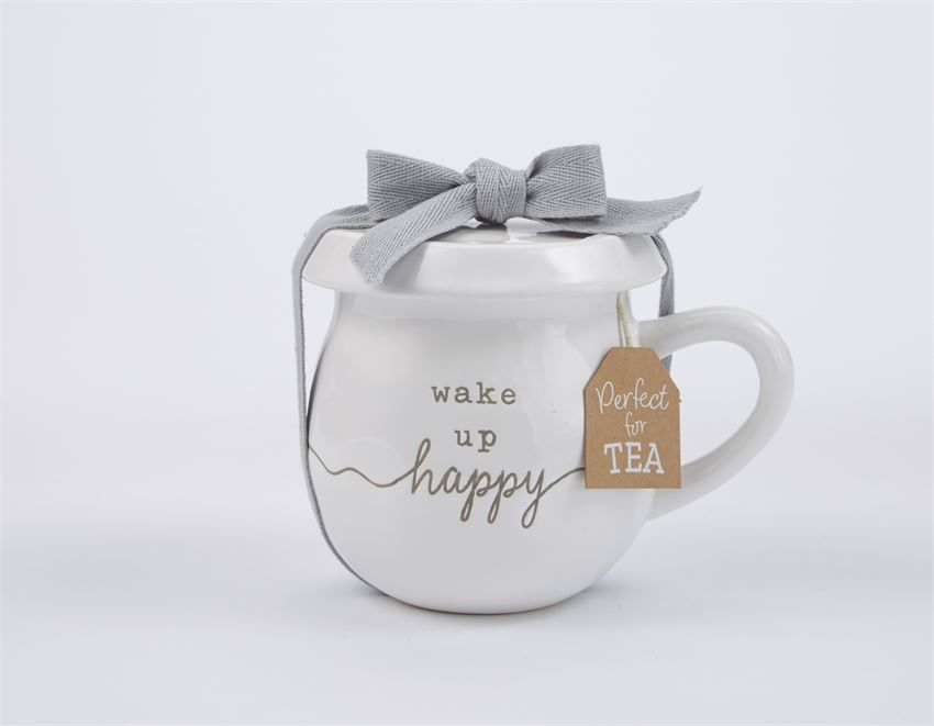 Mud Pie Wake Up Happy Tea Mug