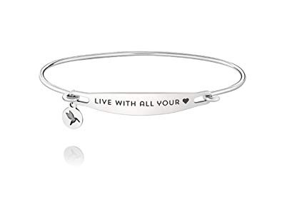 Chamilia Live All Your Heart ID Bangle - SS - S/M