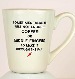 Ceramic Coffee Mug - Middle Fingers