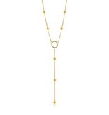 Ania Haie Ania Haie Modern Circle Y Necklace Gold