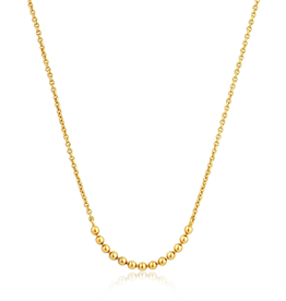 Ania Haie Modern Triple Balls Necklace Gold