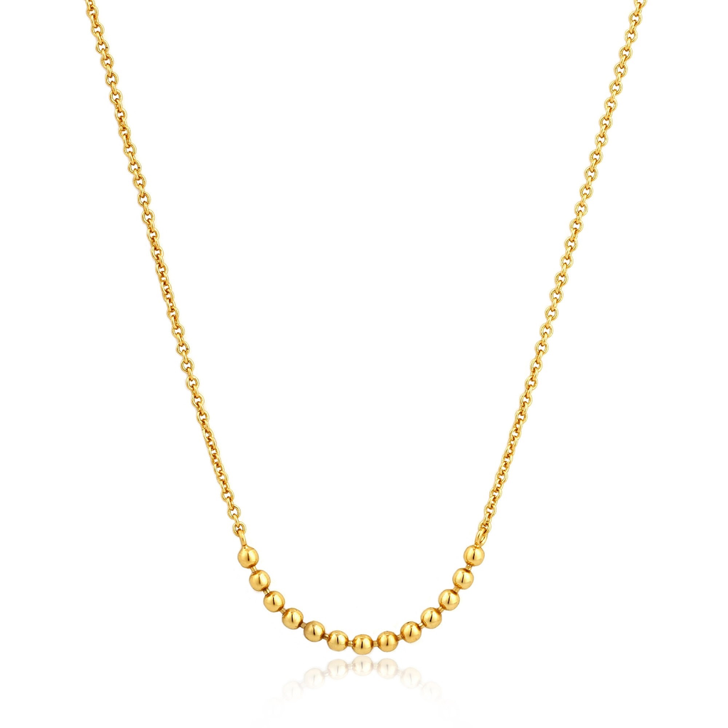 Ania Haie Ania Haie Modern Triple Balls Necklace Gold