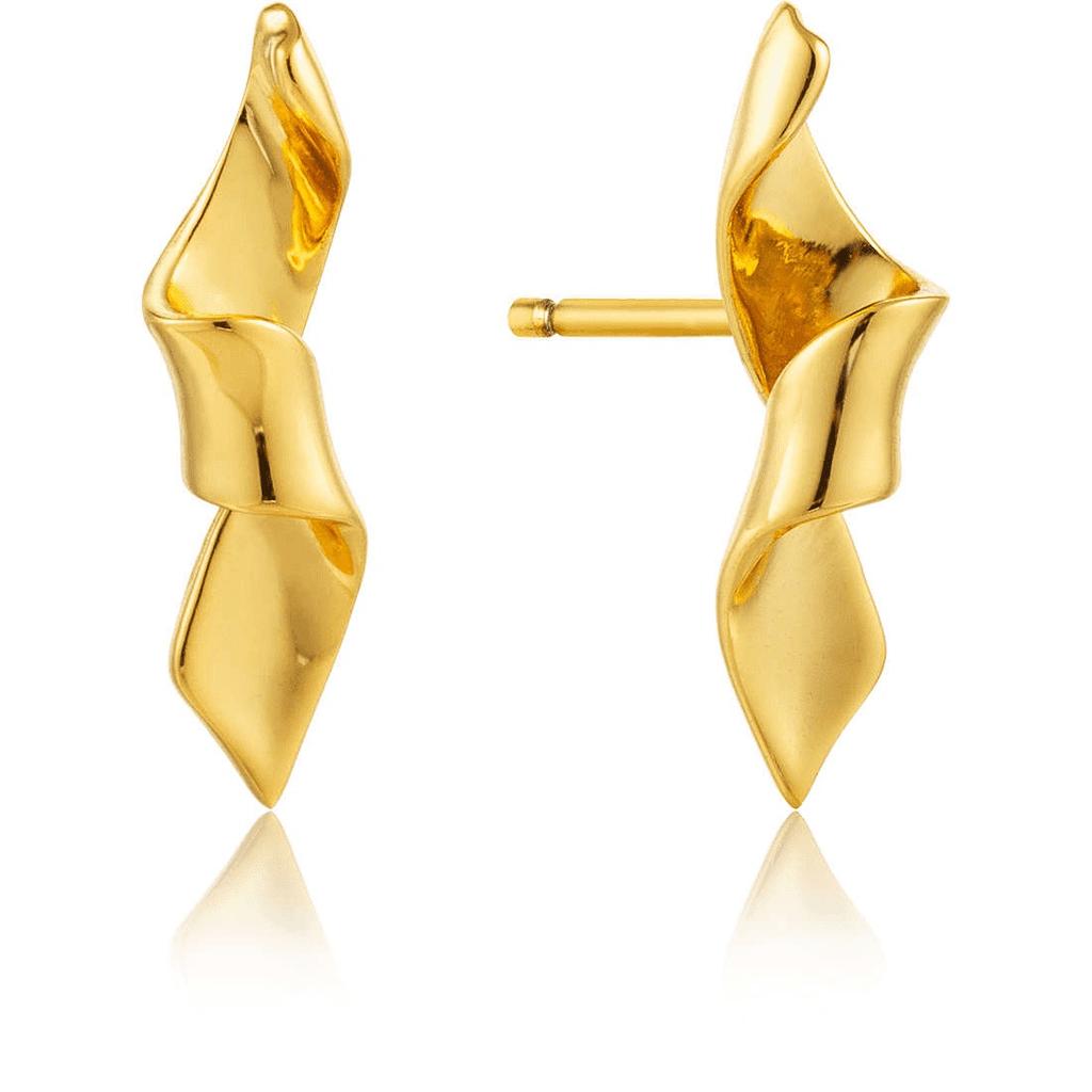 Ania Haie Helix Stud Earrings Gold