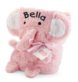 Mud Pie Pink Elephant Blanket