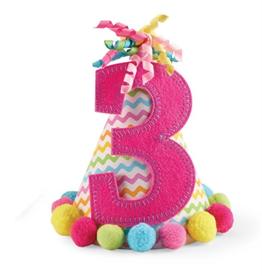 """Mud Pie Pink """"I'm Three"""" Party Hat"""""""