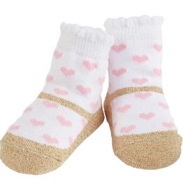 Mud Pie Gold Heart Socks