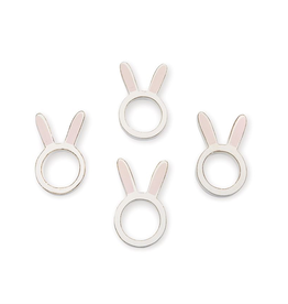 Mud Pie Bunny Napkin Ring Set