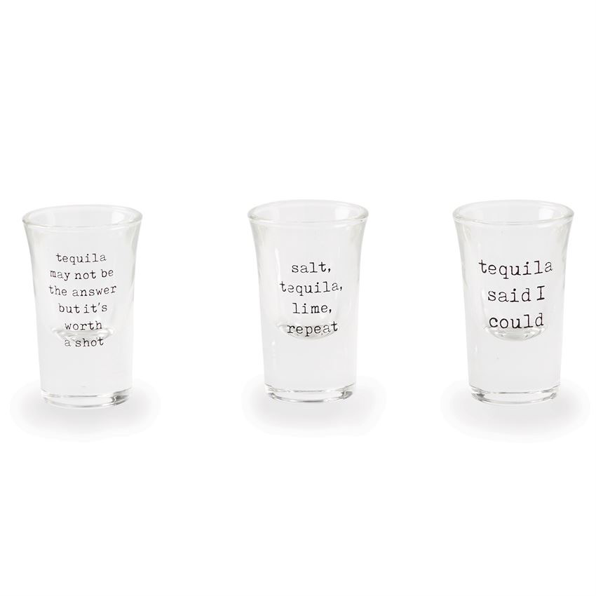 Mud Pie SALT, TEQUILA, LIME, REPEAT Tequila Shot Glass