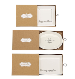 Home Decor Mud Pie Happy Everything  Mini Tray