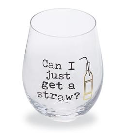 Mud Pie Straw Funny Wine Glass