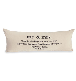 Home Decor Mud Pie Mr and Mrs Definition Pillow