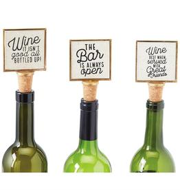 Mud Pie Gold Frame Wine Bottle Stopper/Bottled Up