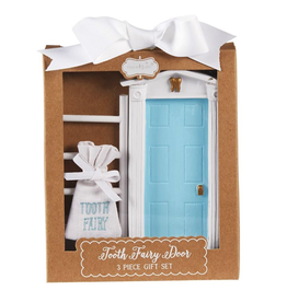 Mud Pie Blue Tooth Fairy Door Gift Set