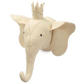xMud Pie Elephant Wall Mount/ivory