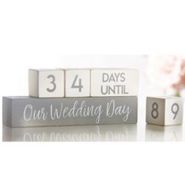 Home Decor Mud Pie Wedding Countdown Blocks