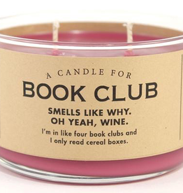 Whiskey River Soap Company - Book Club - Candle