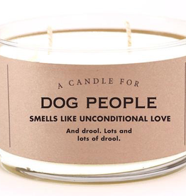 Whiskey River Soap Company - Dog People - Candle