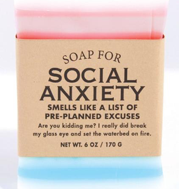 Personal Care Whiskey River Soap Company - Social Anxiety - Soap