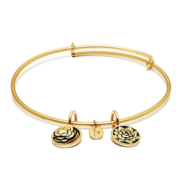 Life Collection - Roses Expandable Bangle - Small Size - Gold