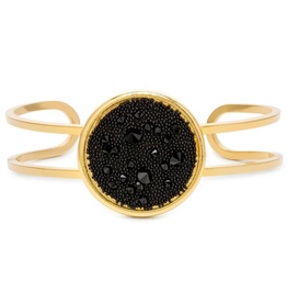 Luca + Danni - Kelsey Jet Pave Cuff Gold