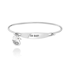 Chamilia Oh Baby ID Bangle - SS - S/M