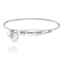 Chamilia Mrs. Always Right ID Bangle - SS - S/M