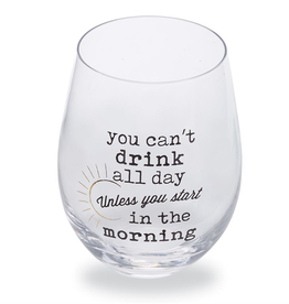 Mud Pie Drink All Day Wine Glass